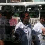"""""""Basta de robos"""": Transportistas se manifiestan en Irapuato"""
