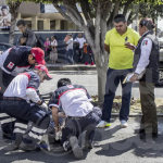 """""""Estudiante"""" atropella a ciclista en Boulevard Lázaro Cárdenas"""