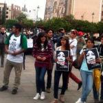 ¡Justicia! para normalistas desaparecidos exigen estudiantes  en Irapuato