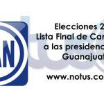 Lista final de candidatos del PAN en Guanajuato