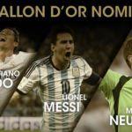 Ronaldo, Messi y Neuer finalistas al Balón de Oro