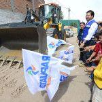 Pavimentan calles en las comunidades El Nido y San José de Jorge López
