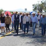 Inauguran acceso a ejido Benito Juárez