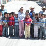 Entregan primera etapa de calle en Trojes de Marañón
