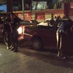 Choca patrulla de Silao contra camioneta