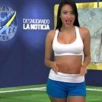 Se desnuda conductora deportiva al dar una noticia de Cristiano Ronaldo