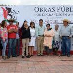 Inauguran pavimentación en Potrerillos