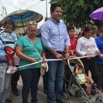 Alcalde inaugura 12 calles pavimentadas