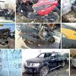 Aseguran vehículos robados durante 3 cateos en Guanajuato