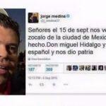 Confunde cantante de Banda Limón al penjamense ilustre: Miguel Hidalgo con Español