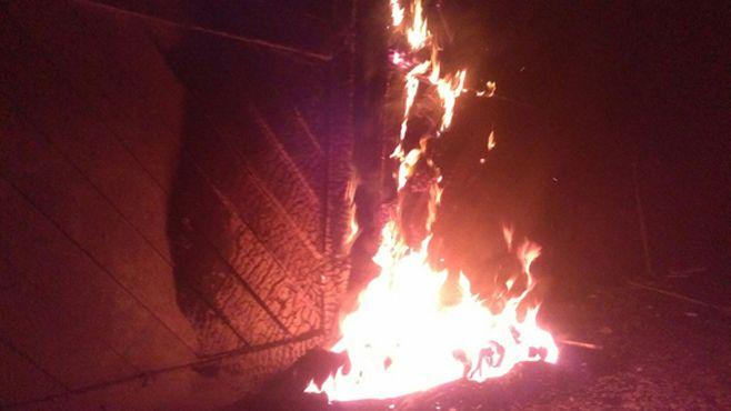 Photo of Incendian puertas de la ex estación del tren en Pénjamo; ya van dos veces
