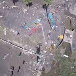 Dron capta devastadoras imágenes tras terremoto y tsunami en Chile