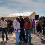 Campesinos se manifiestan en Expo Agroalimentaria