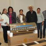 Alcaldesa entrega calentadores a familias neo-poblanas