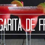 Prueba una fresca margarita de fresa con tequila