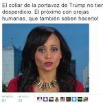 Portavoz de Trump motiva críticas por su collar de balas