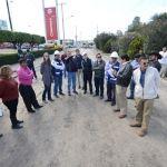 Supervisa alcalde obras viales; tienen mantenimiento vial 60% de avance