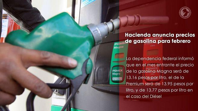 Photo of Hacienda anuncia precios de gasolina para febrero