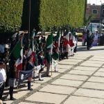 Celebran el  aniversario  del Día de la Bandera en Cuerámaro