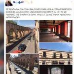 Ofrecen supuesta renta de balcón con costo de 22 mp para ver al Papa en Morelia