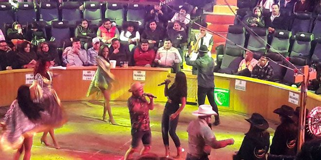 Los comediantes en el palenque de Irapuato
