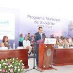 Presenta Samuel Amezola acciones de Plan de Gobierno