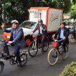 Diputados llegan en Metro y bici a San Lázaro ante contingencia