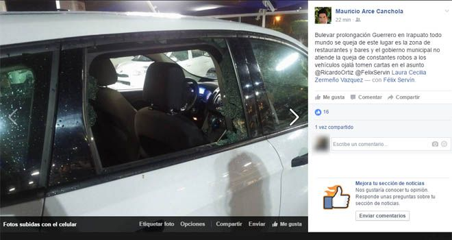 Photo of Cristalean carro del delegado federal de Prospera, en Irapuato