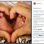 Paulina Rubio comparte la foto de su recién nacido
