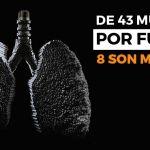 De 43 muertos por fumar, 8 son mujeres: SSG