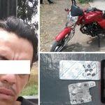 Detienen a sujeto que iba en una motocicleta con reporte de robo