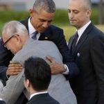 Abrazo entre Obama y sobreviviente de bomba atómica en Hiroshima