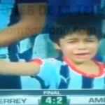 Llora niño rayado por el pase de su equipo a la gran final del Futbol Mexicano