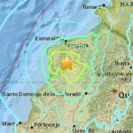 Tiembla nuevamente en Ecuador, 6.8 en escala de Richter