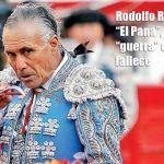 """Rodolfo Rodríguez """"El Pana"""", pierde la """"guerra"""" con el toro: fallece"""