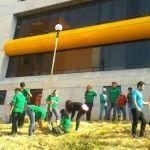 Participan alumnos de la DCEA en reforestación de su sede