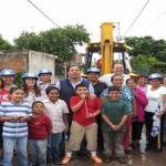 Arranca alcalde pavimentación de calles en La Galera