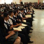 Emotiva graduación de alumnos de la Secundaria Virgilio Uribe