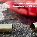 En los últimos 8 años, fue 2015 el de más homicidios en Guanajuato
