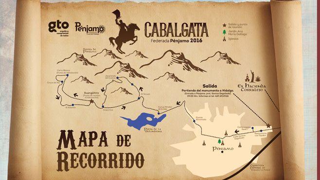 Cartel Mapa Cabalgata
