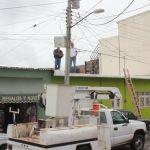 Rehabilita servicios básicos sistema eléctrico en zona centro