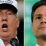 Donald Trump y Peña Nieto se reúnen el día de hoy en México
