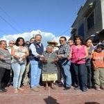 Alcalde inaugura obra de urbanización con una inversión de 954 mil 552 pesos