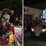 Calles de Cuerámaro se llenan de folklore con desfile de catrinas y catrines