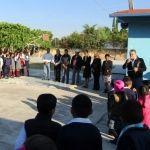 Autoridades de Huanímaro realizan acto cívico en escuela de La Lobera