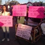 Marchan para exigir un ¡alto! a la violencia contra las mujeres