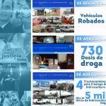Aseguran droga, combustible y vehículos en varios municipios del Estado