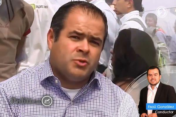 Photo of Samuel Amezola, acalde de Abasolo en entrevista desde la Expoagroalimentaria 2016