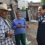 Visita Moy Cortéz a beneficiarios de techo digno en Tupátaro