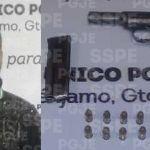 Detienen en Pénjamo, en hechos distintos, a dos personas en posesión de armas de fuego